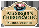 Algonquin Chiropractic, Dr. Doug Neudorf. Huntsville, Muskoka Chiropractor Logo